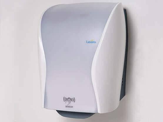 Handdoekautomaat met sensor zij aanzicht | Lavans