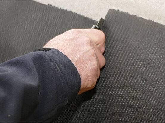 We snijden de matten precies op maat zodat hij past in uw entree
