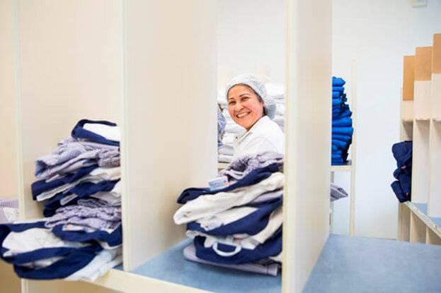 Bedrijfskleding wassen in de high care ruimte