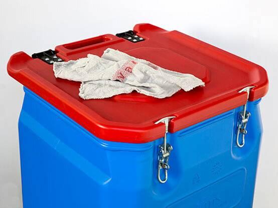 Grafische poetsdoeken container - inkt doeken