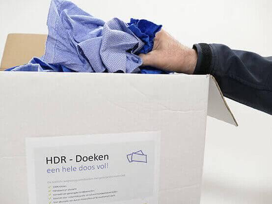 Een doos vol HDR poetsdoeken van Lavans