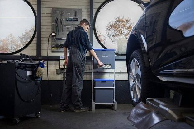 poetsdoeken dispenser garage